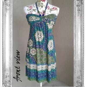 CITY TRIANGLES strapless OR halter dress size m